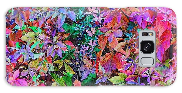 Autumn Virginia Creeper Galaxy Case by Diane Alexander
