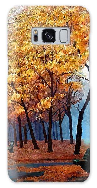 Autumn Walk Galaxy Case by James Shepherd