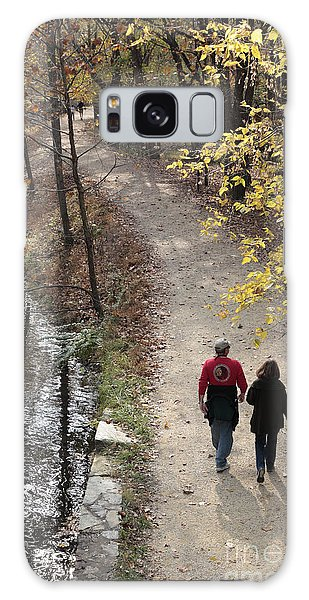 Autumn Walk On The C And O Canal Towpath Galaxy Case