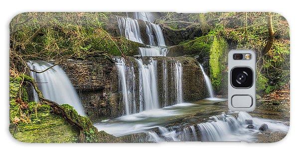 Autumn Waterfall Galaxy Case by Ian Mitchell