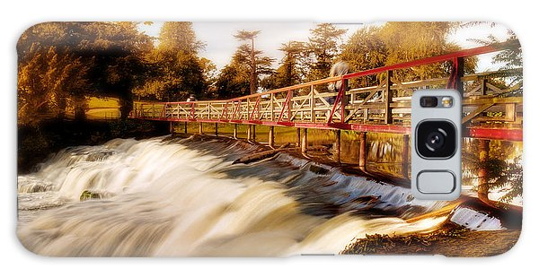 Galaxy Case featuring the photograph Autumn Waterfall / Maynooth by Barry O Carroll