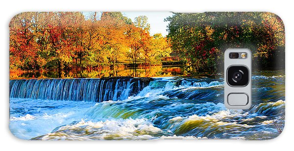 Amazing Autumn Flowing Waterfalls On The River  Galaxy Case