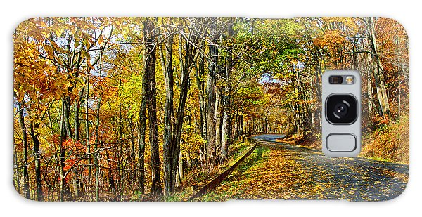 Autumn Winding Road Galaxy Case by Kevin Cable