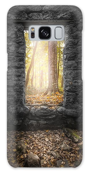 Galaxy Case featuring the photograph Autumn Within Long Pond Ironworks - Historical Ruins by Gary Heller