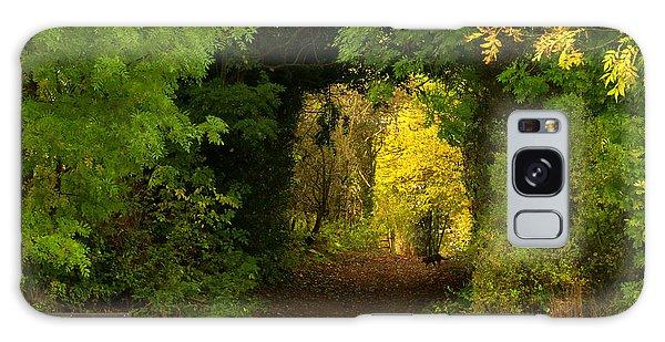 Autumn Woodland Walk Galaxy Case
