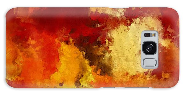 Maple Leaf Art Galaxy Case - Autumn's Abstract Beauty by Lourry Legarde
