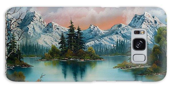 Mountain Lake Galaxy Case - Autumn's Glow by Chris Steele