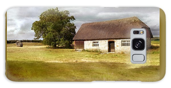 Avebury Cottage Tree And Standing Stone Galaxy Case