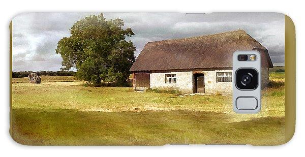 Avebury Cottage Tree And Standing Stone Galaxy Case by Menega Sabidussi