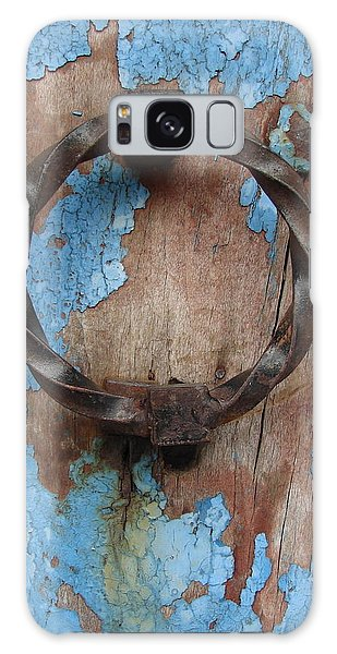 Avignon Door Knocker On Blue Galaxy Case by Ramona Johnston