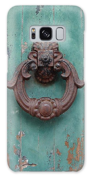 Avignon Door Knocker On Green Galaxy Case by Ramona Johnston