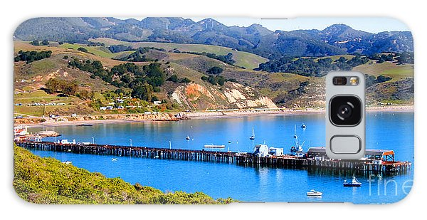 Avila Beach California Fishing Pier Galaxy Case
