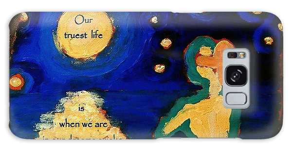 Awake In Our Dreams  Galaxy Case by Janet McDonald