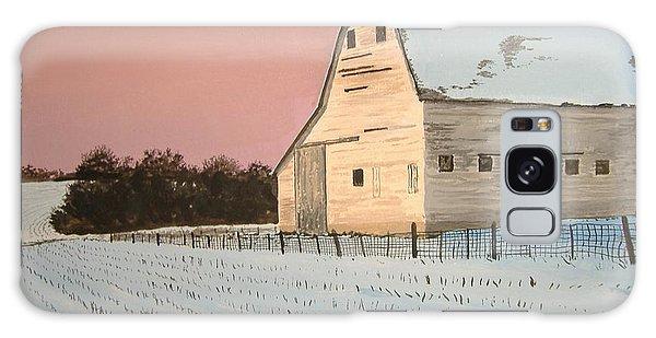 Award-winning Original Acrylic Painting - Nebraska Barn Galaxy Case