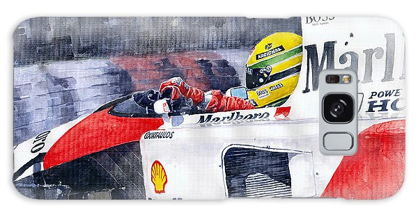 Sport Car Galaxy Case - Ayrton Senna Mclaren 1991 Hungarian Gp by Yuriy Shevchuk