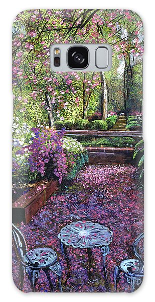 Azaleas And Cherry Blossoms Galaxy Case