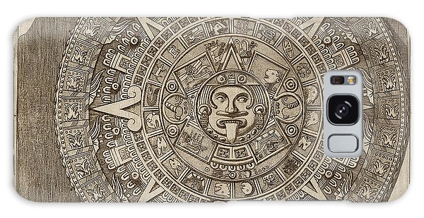 Calendar Galaxy Case - Aztec Calendar Stone by Library Of Congress