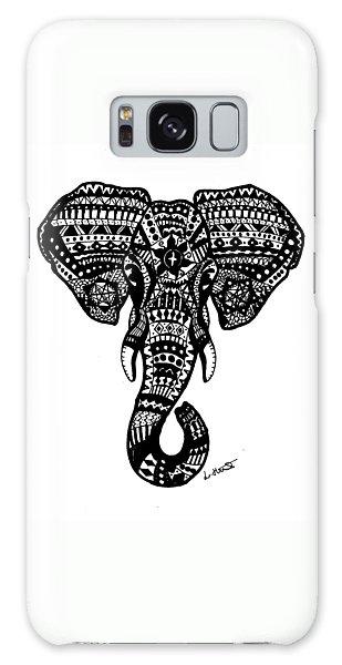 Aztec Elephant Head Galaxy Case by Loren Hill