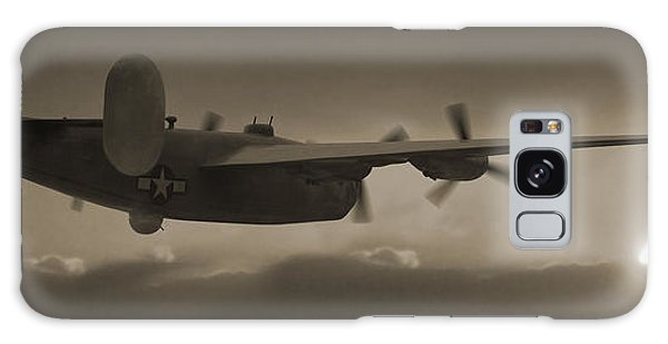 Bomber Galaxy Case - B - 24 Into The Sun Panoramic by Mike McGlothlen