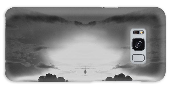 Helicopter And Stormy Sky Galaxy Case by Belinda Lee