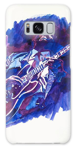 B B King Galaxy Case - B. B. King Blue by David Lloyd Glover