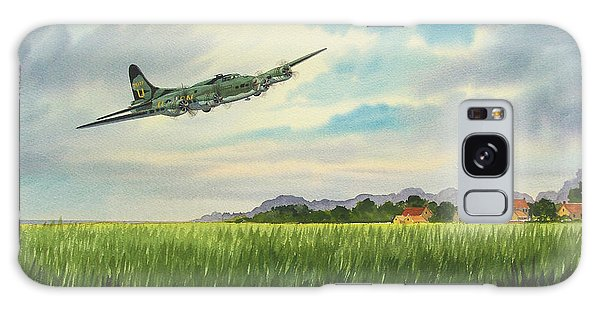 B17 Over Norfolk England Galaxy Case by Bill Holkham