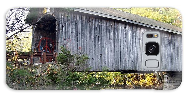 Babbs Covered Bridge In Maine Galaxy Case by Catherine Gagne