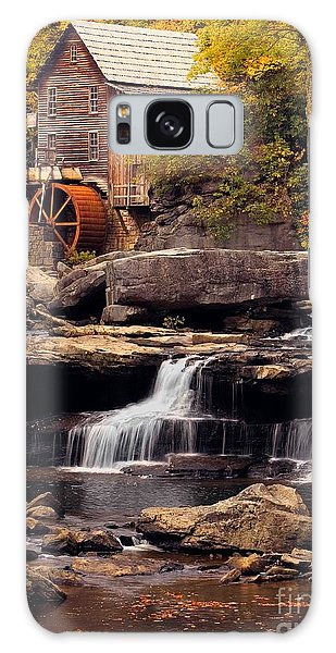Babcock Grist Mill And Falls Galaxy Case by Jerry Fornarotto