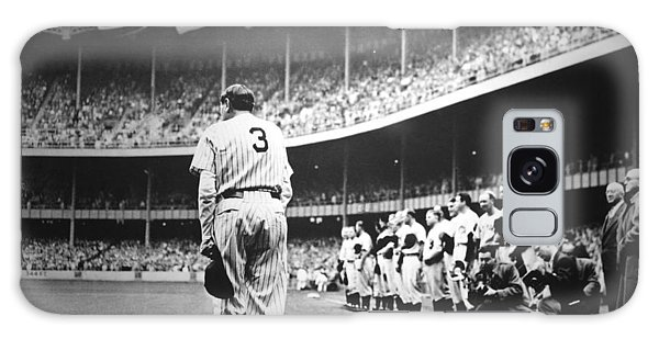 Babe Ruth Poster Galaxy Case by Gianfranco Weiss