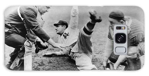 Baseball Players Galaxy S8 Case - Babe Ruth Slides Home by Underwood Archives