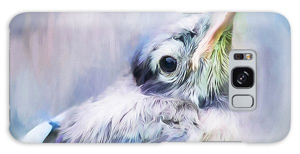 Baby Blue Jay Galaxy Case by Darren Fisher