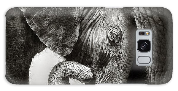 Wildlife Galaxy Case - Baby Elephant Seeking Comfort by Johan Swanepoel