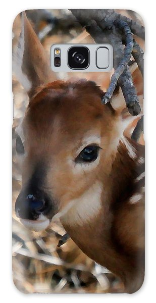 Baby Face Fawn Galaxy Case