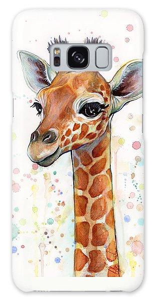 Baby Giraffe Watercolor  Galaxy S8 Case