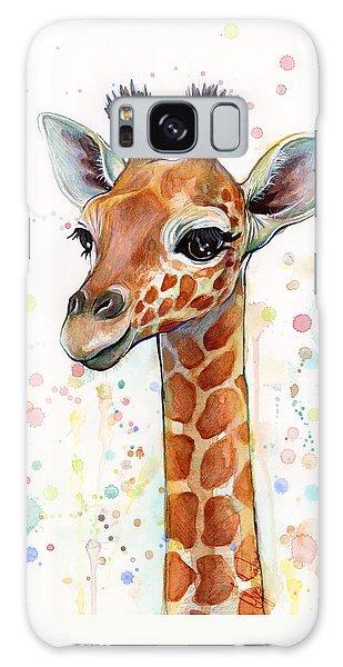 Baby Giraffe Watercolor  Galaxy Case