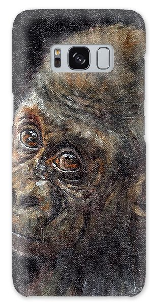 Gorilla Galaxy S8 Case - Baby Gorilla by David Stribbling