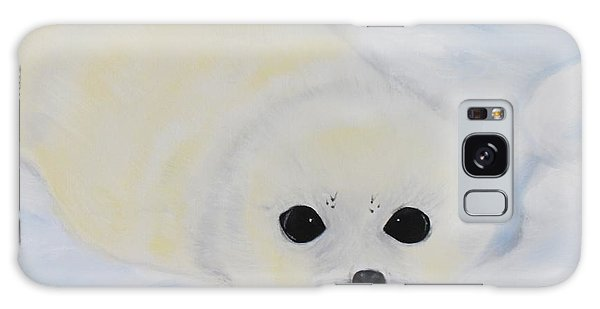 Baby Harp Seal Galaxy Case by Bev Conover