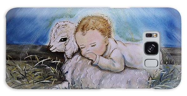 Baby Jesus Little Lamb Galaxy Case by Nava Thompson