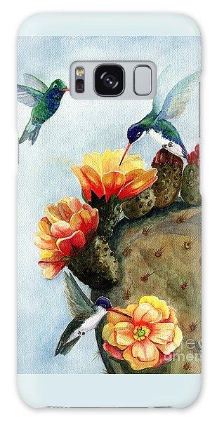 Hummingbird Galaxy S8 Case - Baby Makes Three by Marilyn Smith
