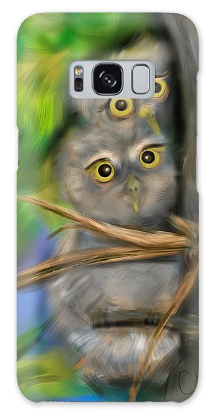 Baby Owls Galaxy Case