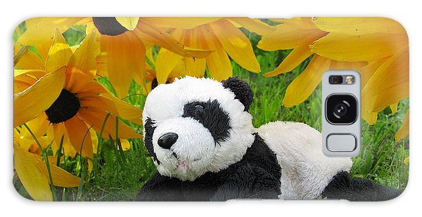 Baby Panda Under The Golden Sky Galaxy Case by Ausra Huntington nee Paulauskaite