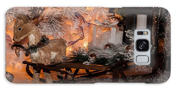 Baby Reindeer And Sleigh Galaxy Case