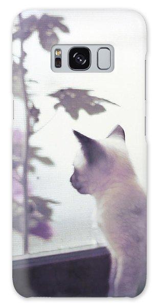 Baby Siamese Kitten Galaxy Case