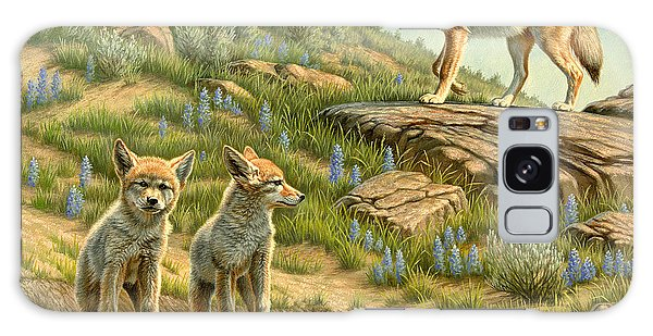 Coyote Galaxy Case - Babysitter  -  Coyotes by Paul Krapf