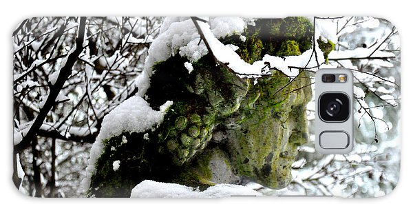 Bacchus Statue Under Snow Galaxy Case