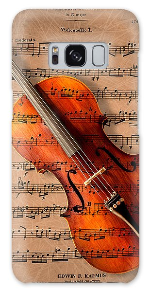 Violin Galaxy Case - Bach On Cello by Sheryl Cox