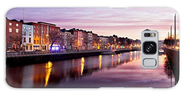 Galaxy Case featuring the photograph Bachelors Walk And River Liffey At Dawn - Dublin by Barry O Carroll