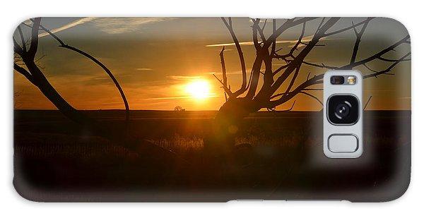 Back Forty Sunrise Galaxy Case by Clarice  Lakota