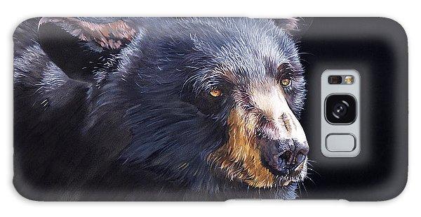 Back In Black Bear Galaxy Case