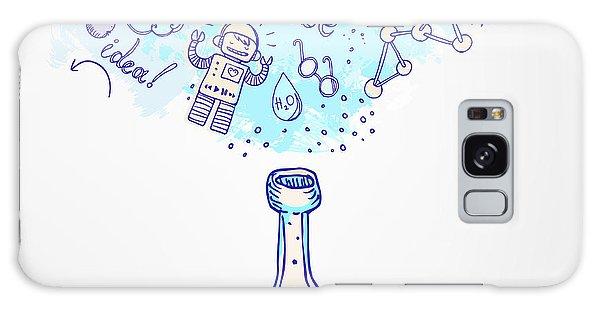 Scientific Illustration Galaxy Case - Back To School Science Learning Symbols by Gorbash Varvara